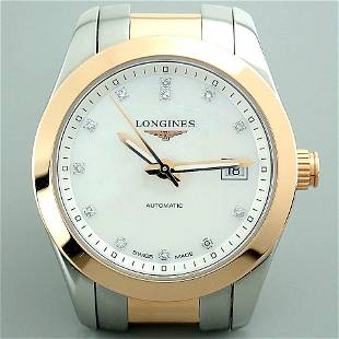 Longines / Conquest Mother of Pearl - Lady's Gold/Steel