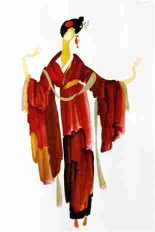 "MARIA LEVITSKA ""Red girl. Turandot G. Puccini"""