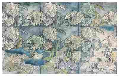 """OKSANA STRATIYCHUK """"Garden. Chrysanthemum"""""""