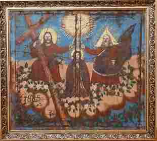 """UNKNOW """"Coronation of Mother Mary by the Holy Trinity"""""""