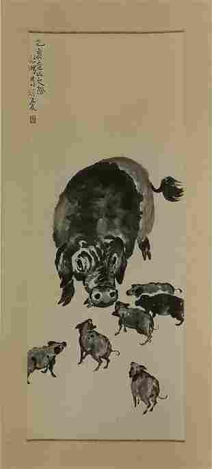 Xu Beihong, Ink Pig