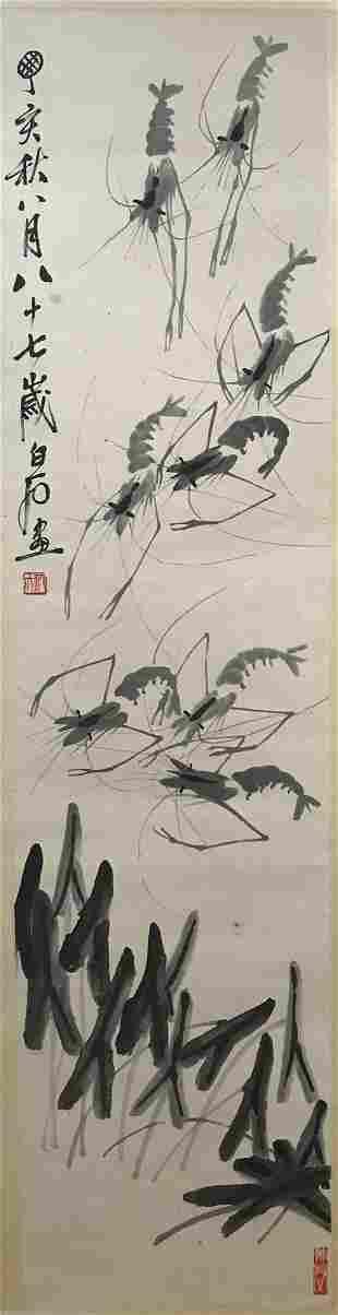 Qi Baishi, shrimp