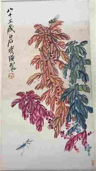 Qi Baishi, flower grass insect