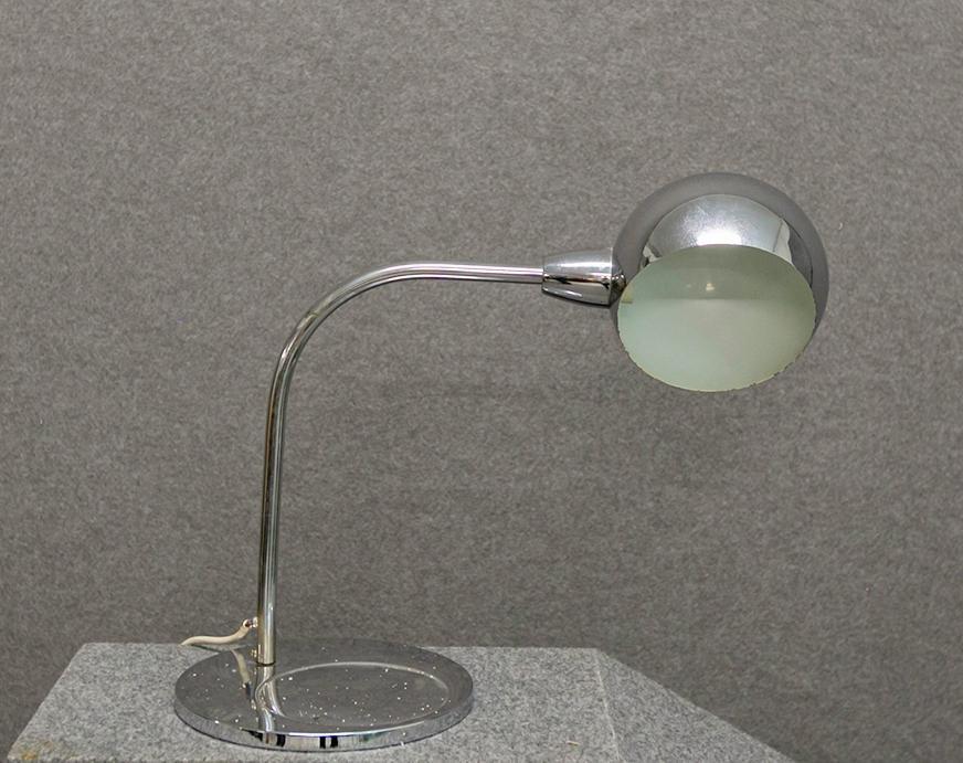 SERGIO ASTI. Chromed iron table lamp