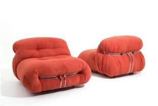 AFRA & TOBIA SCARPA. Two Soriana chairs. CASSINA