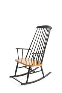 ILMARI TAPIOVAARA. Rocking chair in wood. 1960s