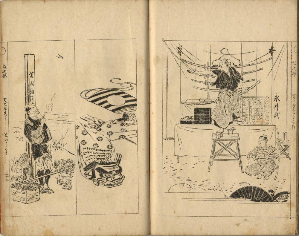 Japanese Woodblock Prints Gekko, Ogata 1859-1920 Ehon,