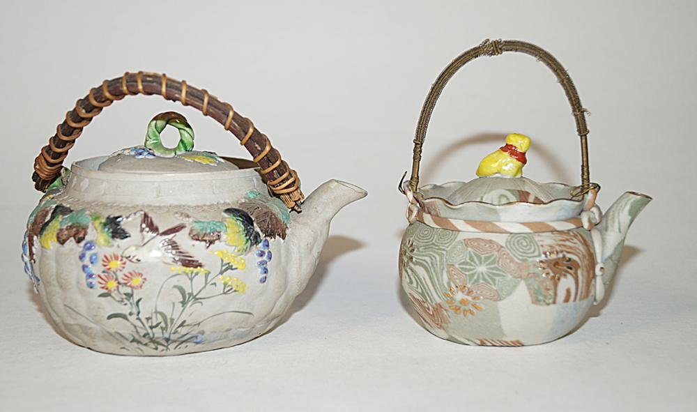 Japanese Antiques Two ceramic teapots, before 1950
