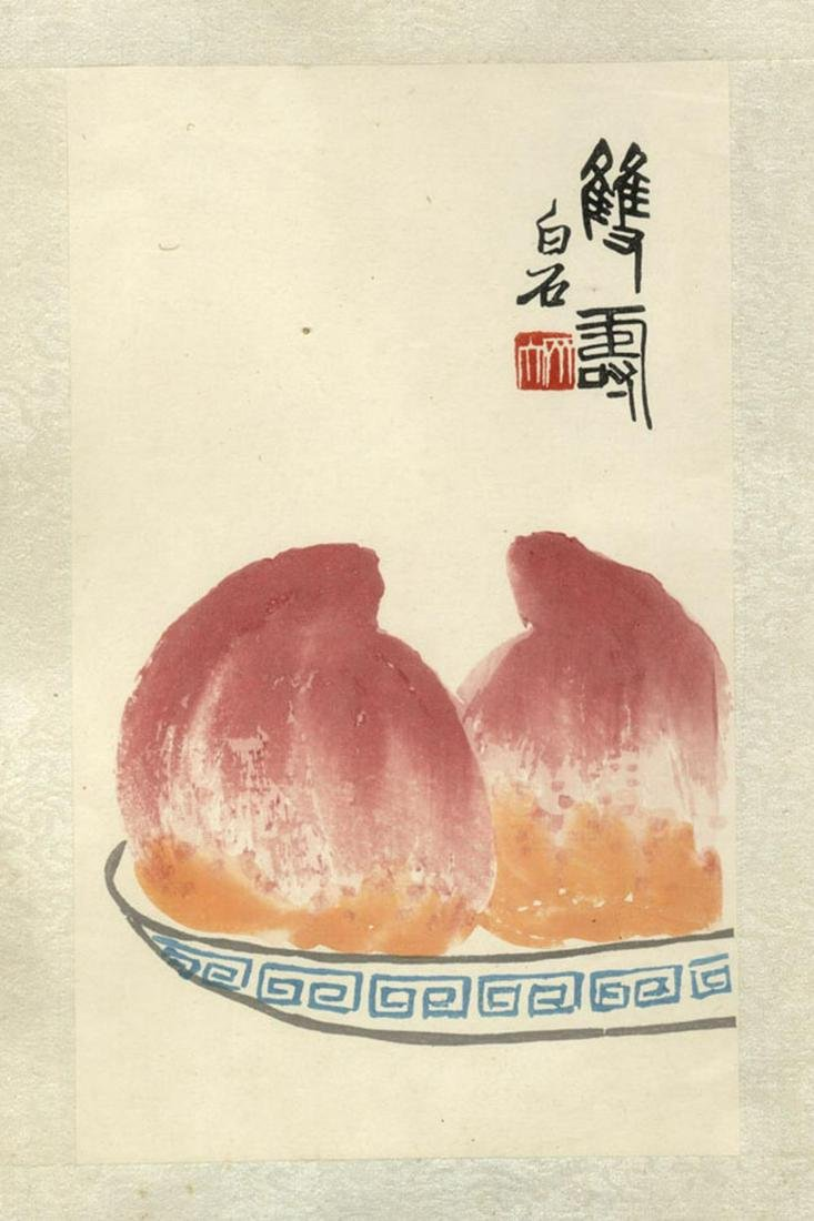 Chinese Antiques and Art Qi Baishi Album page, fruits
