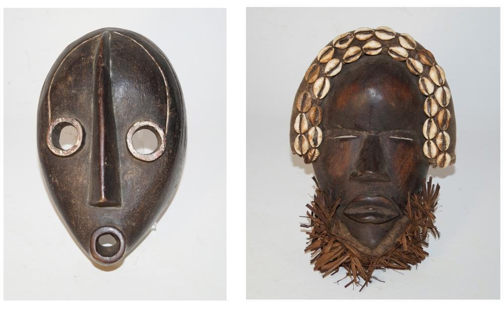 African Art Two masks, Dan style