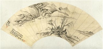 Painting, probably Tang Dai 1673- ca. 1755 Fan leaf,