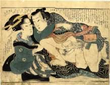 Japanese Woodblock Print Eisen, Keisai 1790-1848 Shunga