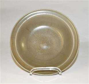 Chinese Longquan Seladon plate (D. 19 cm), probably