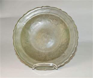 Chinese Longquan Celadon Plate (D. 22,5 cm), Probably