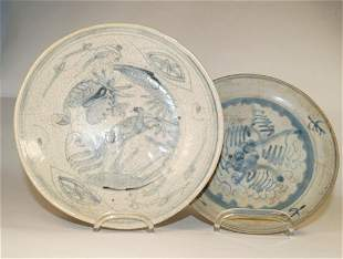 Chinese Blue and white dishes (D. 19,5 cm) Ming style