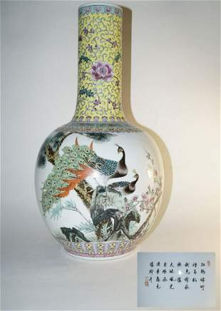 Chinese Big porcelain vase, Jingdezhen 20th century
