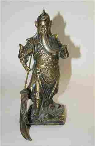 Chinese God of war Guan Yü, bronze figure