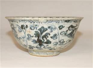 Blue and white bowl (d. 14 cm), Vietnam 16th c.