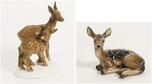 Porcelain and ceramic figures, brand Gerold Porzellan