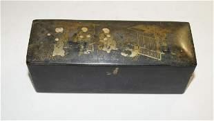 Lacquer box, chinoiserie around 1900