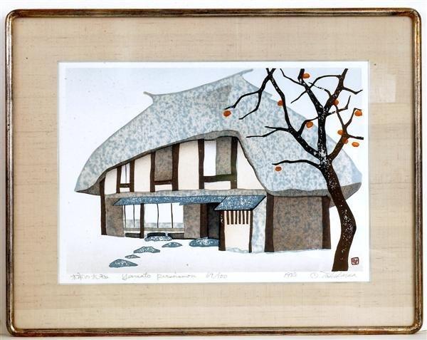 20: Old Japanese Woodblock Print, House