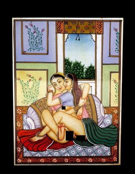 471: Indian India Ivory Mini Painting Erotica Nude Sex