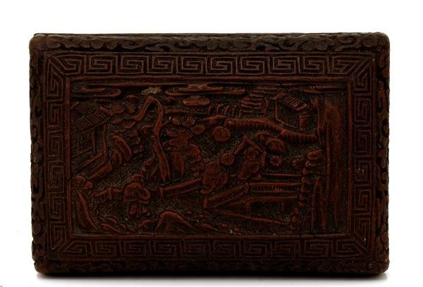 1011: Old Chinese Export Lacquer Cinnabar Box