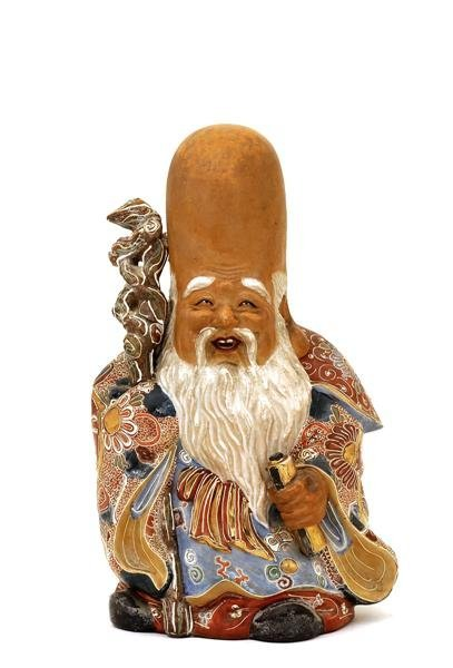 2013: Old Japanese Kutani Shoulo Figurine 7 Lucky God