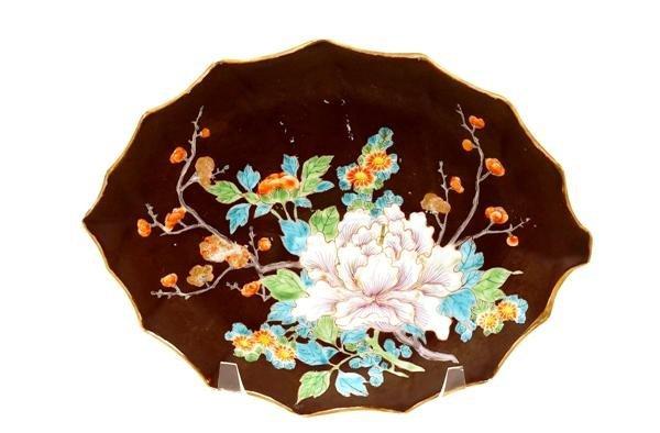 2019: 19C Japanese Fukagawa Koransha Plate Flowers