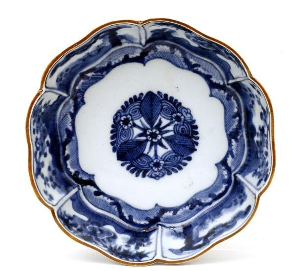 2020: 19C Japanese Blue & White Imari Bowl Mk