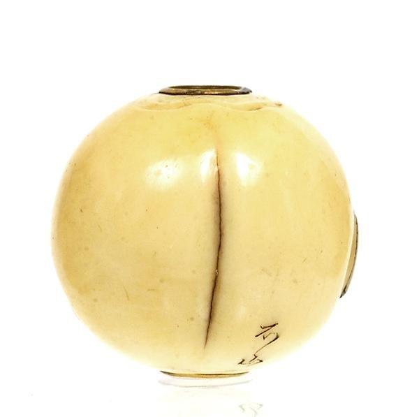 2204: Japanese Ivory Ojime Netsuke Erotica Nude Sg - 3