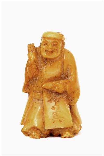 508: Japanese Ivory Netsuke Figurine Figure Man
