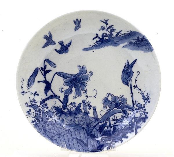 1749: Meiji Japanese Blue & White Imari Print Charger