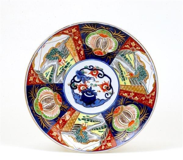 1754: Old Japanese Imari Charger w Dragon