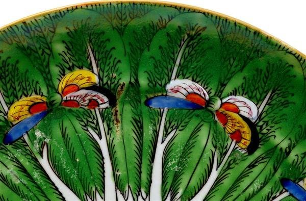 2502: Chinese Export Rose Medallion Cabbage Plate - 3