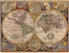 1659 A New and Accurat Map of the World Drawne
