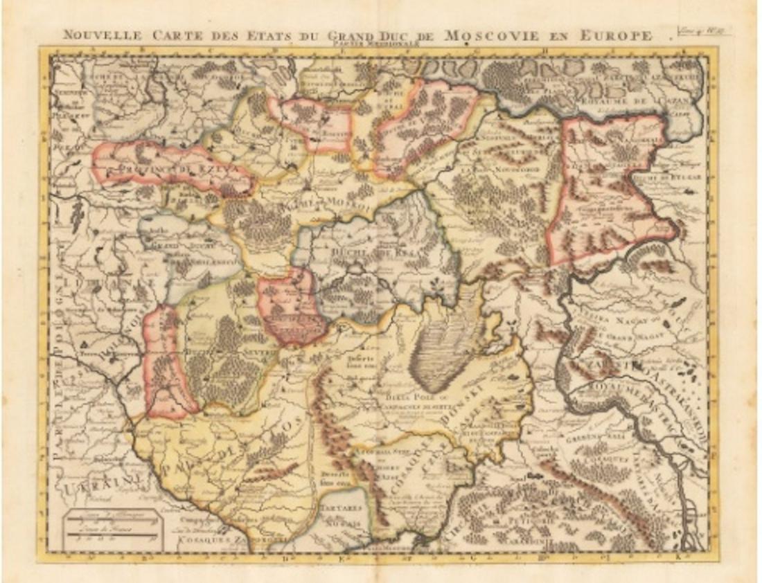 1710 Nouvelle Carte des Etats du Grand Duc de Moscovie