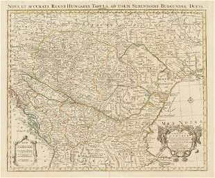 1745 Nova et Accurata Regni Hungariae Tabula, ad Usum