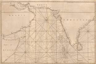 1774 [Sea Chart of the Indian Ocean Including the