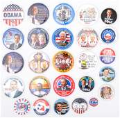 PRESIDENTIAL POLITICAL CAMPAIGN BUTTONS  OBAMA BIDEN