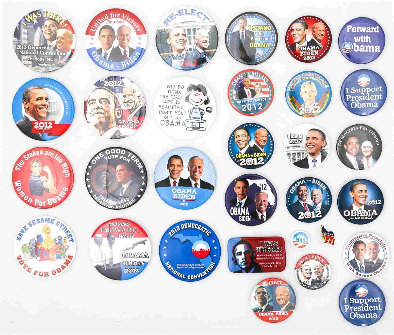 PRESIDENTIAL POLITICAL CAMPAIGN BUTTONS - OBAMA BIDEN