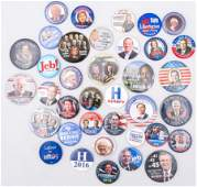 PRESIDENTIAL POLITICAL CAMPAIGN BUTTONS - 2016