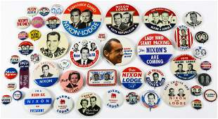 PRESIDENTIAL POLITICAL CAMPAIGN BUTTONS - NIXON 1960,
