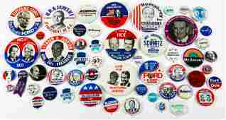 PRESIDENTIAL POLITICAL CAMPAIGN BUTTONS - 1952 TO 1980