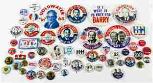 PRESIDENTIAL POLITICAL CAMPAIGN BUTTONS - 1960s