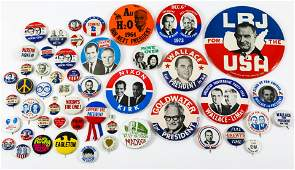 PRESIDENTIAL POLITICAL CAMPAIGN BUTTONS - 1960s to