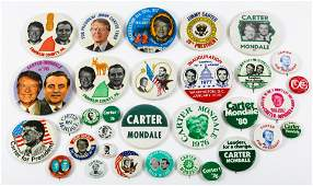 PRESIDENTIAL POLITICAL CAMPAIGN BUTTONS - CARTER 1976
