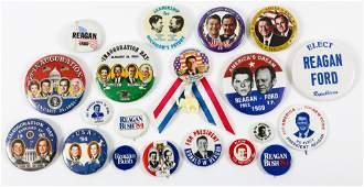 PRESIDENTIAL POLITICAL CAMPAIGN BUTTONS  REAGAN 1980