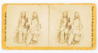 STEREOVIEW BANNOCK INDIANS VIEWS OF THE WEST