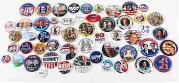 PRESIDENTIAL POLITICAL CAMPAIGN BUTTONS - 1992 TO 2018